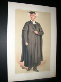 Vanity Fair Print 1875 Rev. H. G. Liddell, Teacher
